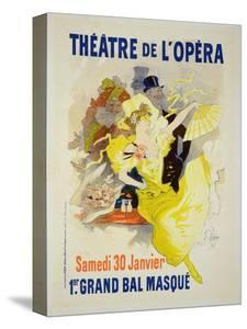"""Reproduction of a Poster Advertising the First """"Grand Bal Masque,"""" Theatre De L'Opera, Paris, 1896 by Jules Chéret"""