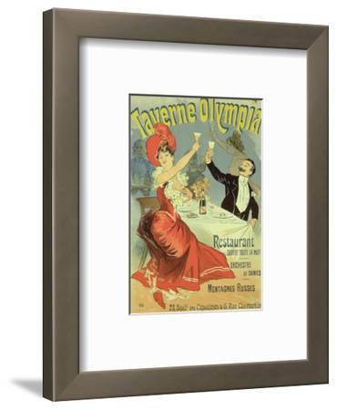 """Reproduction of a Poster Advertising the """"Taverne Olympia,"""" Paris, 1899"""