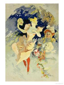 """Reproduction of """"La Danse,"""" 1891 by Jules Chéret"""