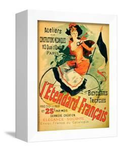 """""""The French Standard,"""" Poster Advertising the Atelier De Constructions Mecaniques by Jules Chéret"""