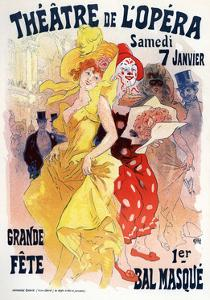 Théatre De L'Opéra, Bal Masqué, 1898-1899 by Jules Chéret