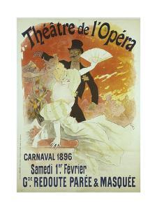 Theatre de l'Opera, Carnaval 1896, Samedi 1er Fevrier, Grande Redoute Paree and Masquee by Jules Chéret