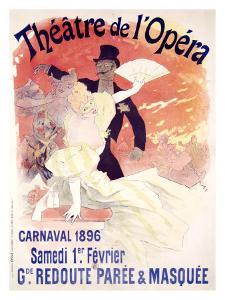 Theatre de l'Opera, Carnaval, 1896 by Jules Chéret