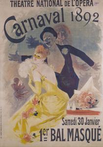 Theatre National de l'Opera, Carnaval 1892, Samedi 30 Janvier, 1er Bal Masque by Jules Chéret