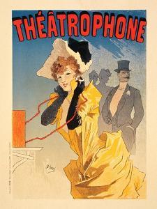Théâtrophone, 1890 by Jules Chéret