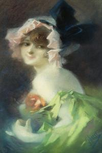 Woman with Gloves; Femme Aux Gants by Jules Chéret