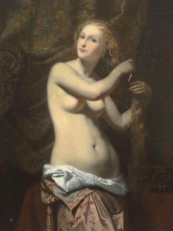 Femme �a toilette