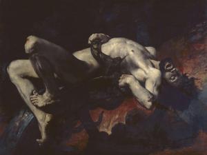 Ixion pr�pit�ans les Enfers by Jules Delaunay