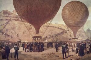 Départ de Gambetta pour Tours sur l'Armand-Barbès, le 7 octobre 1870, à Montmartre by Jules Didier