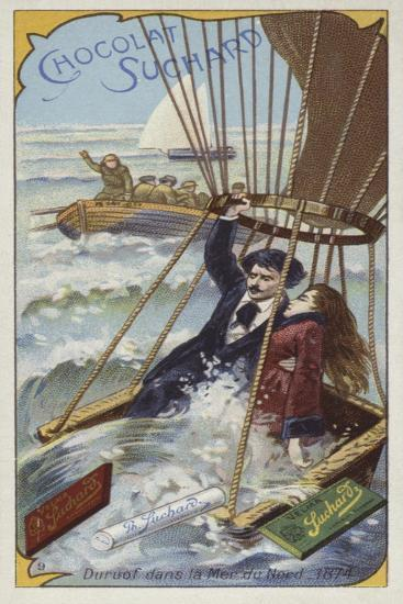 Jules Duruof's Balloon Coming Down in the North Sea, 1874--Giclee Print