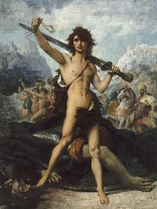 David triomphant by Jules Elie Delaunay
