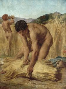 Moissonneurs dans la campagne romaine by Jules Elie Delaunay