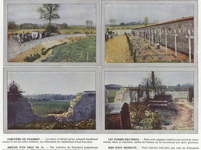 Cimetiere De Chambry, Les Tombes Des Heros, Breche D'Un Obus De 75, Rien N'Est Respecte
