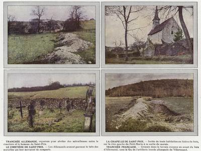 Tranchee Allemande, La Chapelle De Saint-Prix, Le Cimetiere De Saint-Prix, Tranchee Francaise