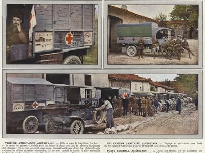 Voiture Ambulance Americaine, Un Camion Sanitaire Americain, Poste Central Americain
