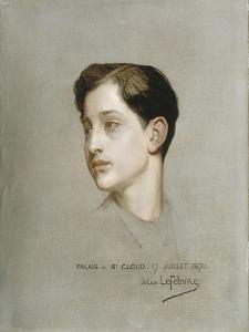 Portrait du Prince Impérial exécuté à Saint-Cloud le 27 juillet 1870. by Jules Joseph Lefebvre