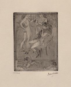 035 - Amor Victor - Trois femmes by Jules Pascin