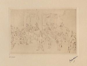 042 - Scene de fortifs by Jules Pascin