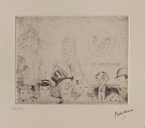 060 - Tentation de Saint-Antoine by Jules Pascin