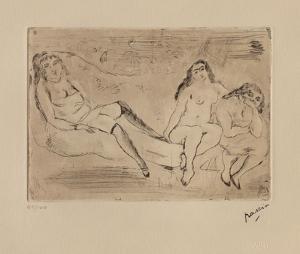 147 - Trois femmes by Jules Pascin