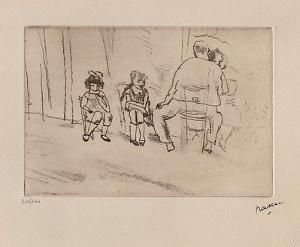 167 - Parents et enfants by Jules Pascin