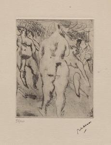 171 - Six femmes nues by Jules Pascin