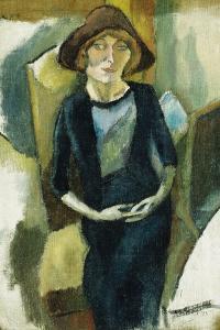 Hermin in Blue, 1916 by Jules Pascin