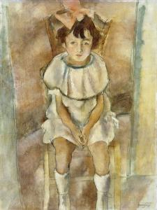 Little Girl in Pink, 1926 by Jules Pascin