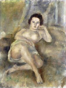 Reclining Girl, 1925 by Jules Pascin