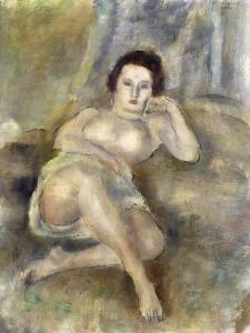 Reclining Girl (Jeune Femme Couchée), 1925 by Jules Pascin