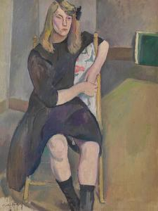 Seated Girl by Jules Pascin