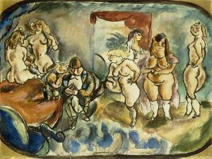 The Dithering Client, 1916 by Jules Pascin