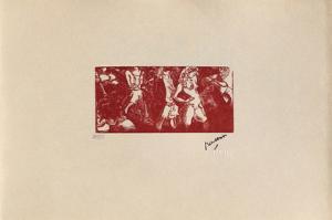 W08 - Filles de la nuit by Jules Pascin