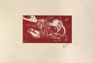 W14 - L'atelier by Jules Pascin