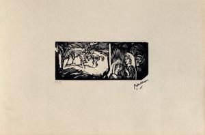 W15 - Filles et cavaliers by Jules Pascin