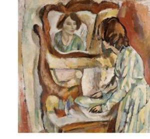 Woman at Her Toilet by Jules Pascin