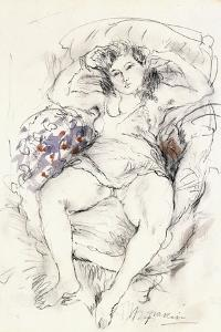 Woman in a Chair, 1925-1926 by Jules Pascin
