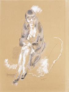 Woman Sitting by Jules Pascin
