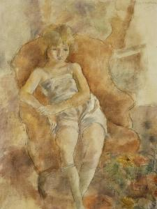 Young Boy Seated, Jeune Fils Assise by Jules Pascin