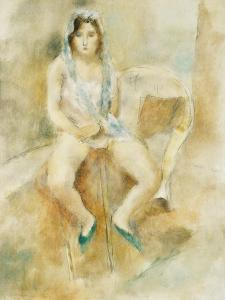 Young Woman Seated by Jules Pascin