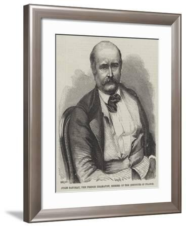 Jules Sandeau, the French Dramatist, Member of the Institute of France--Framed Giclee Print