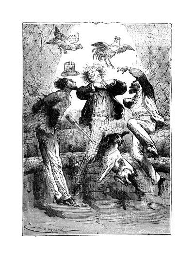 Jules Verne (1828-190) Autour De La Lune, 1865--Giclee Print