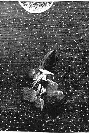 Jules Verne (1828-190), Autour De La Lune, 1865--Giclee Print