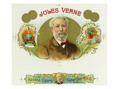 Jules Verne Brand Cigar Box Label, French Science-Fiction Author-Lantern Press-Art Print