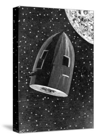Rocket Capsule Illustration from the 1872 Edition of from the Earth to the Moon