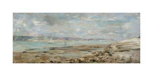 French Seascape with Sailboats by Julia Beck
