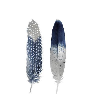 Blue Feather Pair