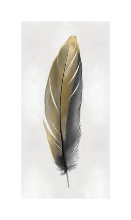 Gold Feather on Silver II