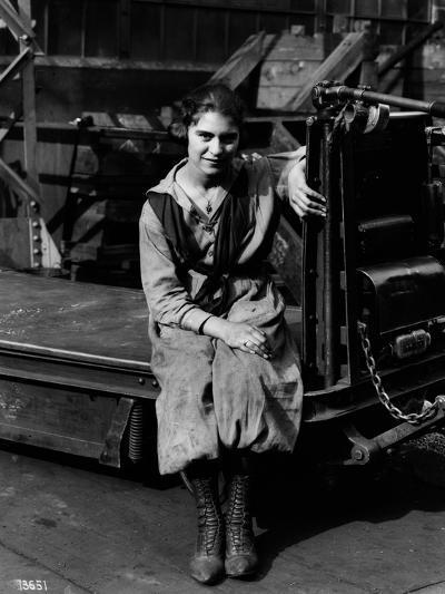 Julia Capella, Industrial Truck Operator, 1919--Photographic Print