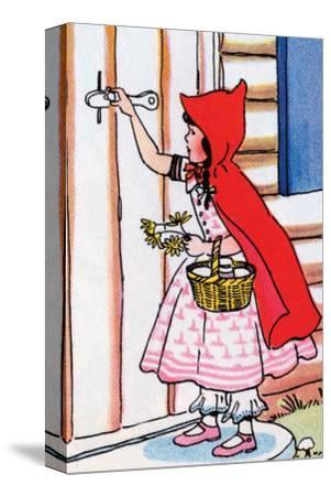 Little Red Riding Hood Knocks on Grandma's Door